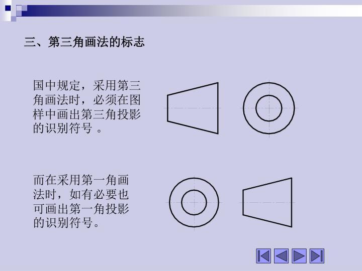 三、第三角画法的标志