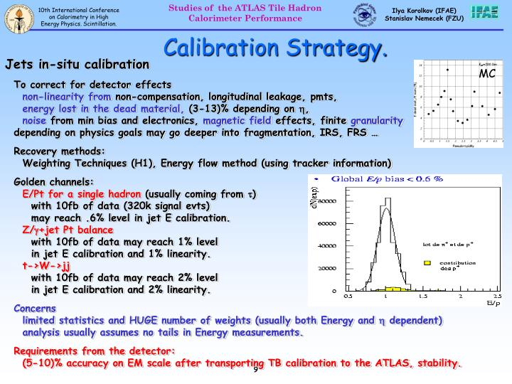 Calibration Strategy.