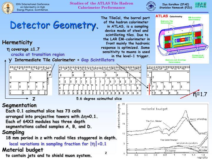 Detector Geometry.