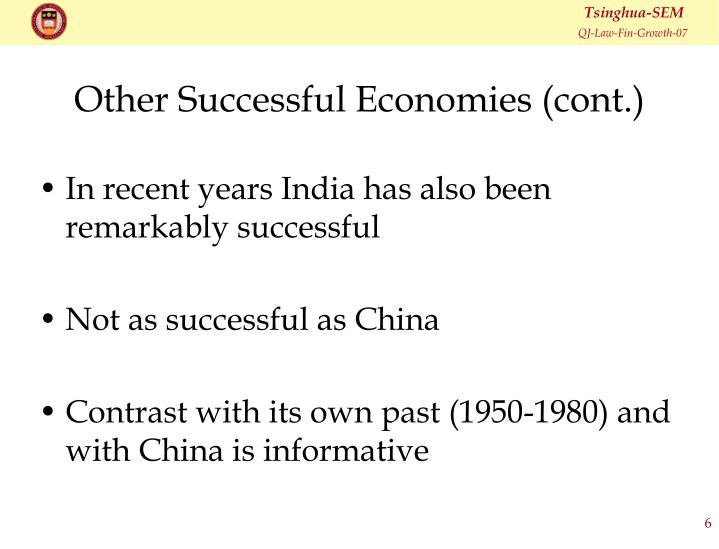Other Successful Economies (cont.)