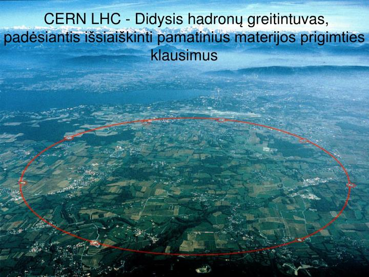 CERN LHC - Didysis hadron