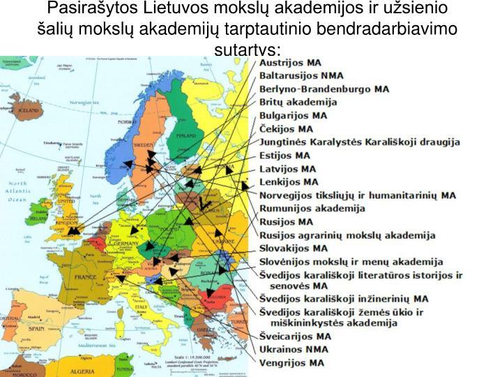 Pasirašytos Lietuvos moksl