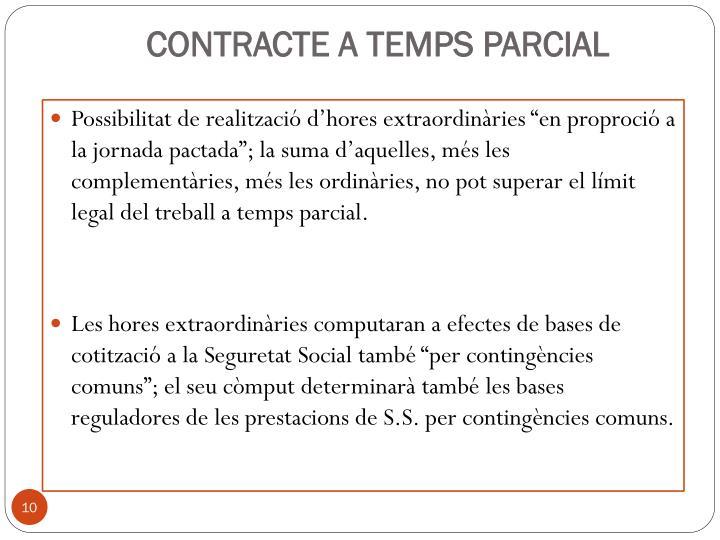 CONTRACTE A TEMPS PARCIAL