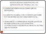 modificacions substancials de condicions de treball art 41