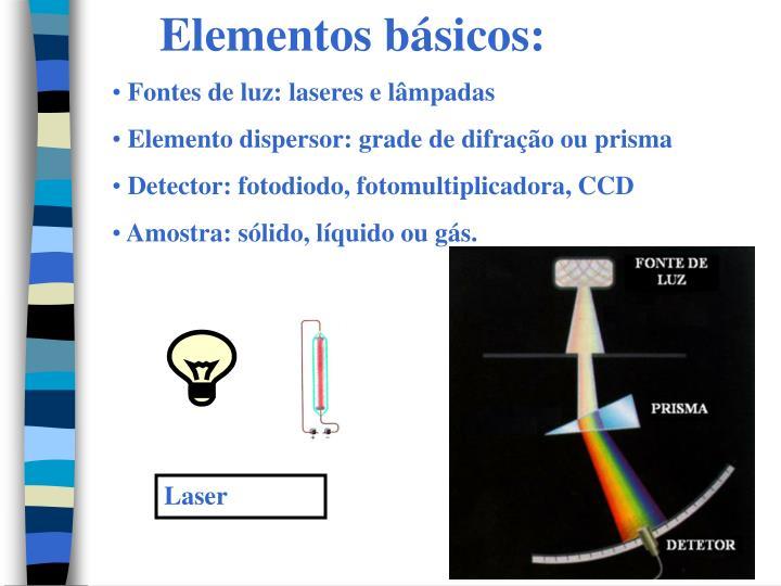 Elementos básicos: