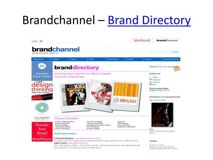 Brandchannel –