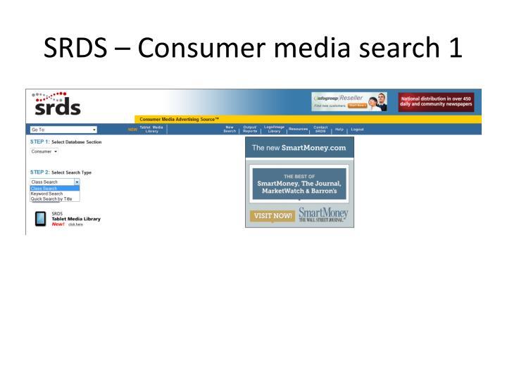 SRDS – Consumer media search 1