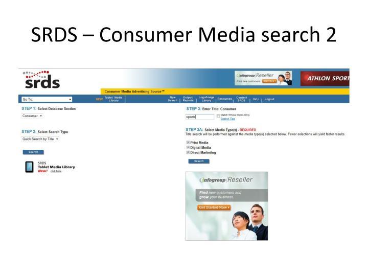 SRDS – Consumer Media search 2