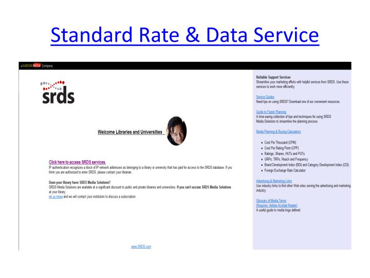 Standard Rate & Data Service