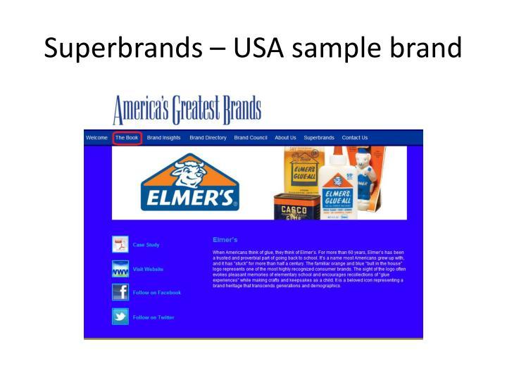 Superbrands – USA sample brand