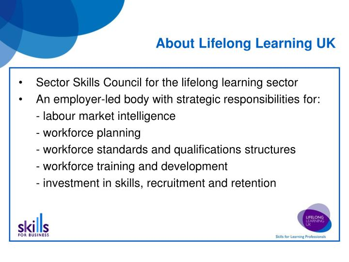 About lifelong learning uk