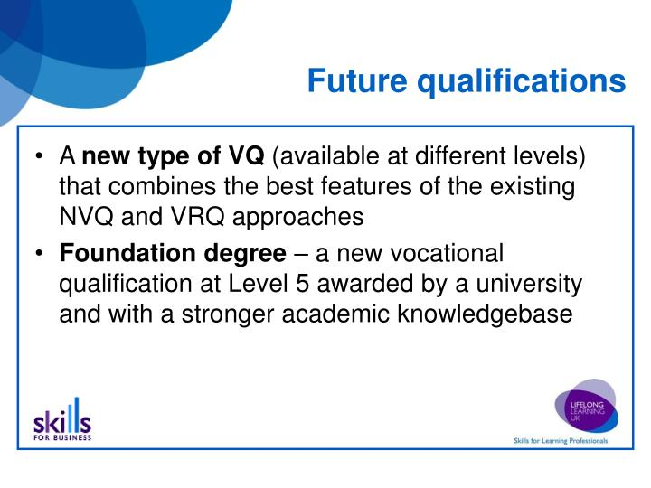 Future qualifications