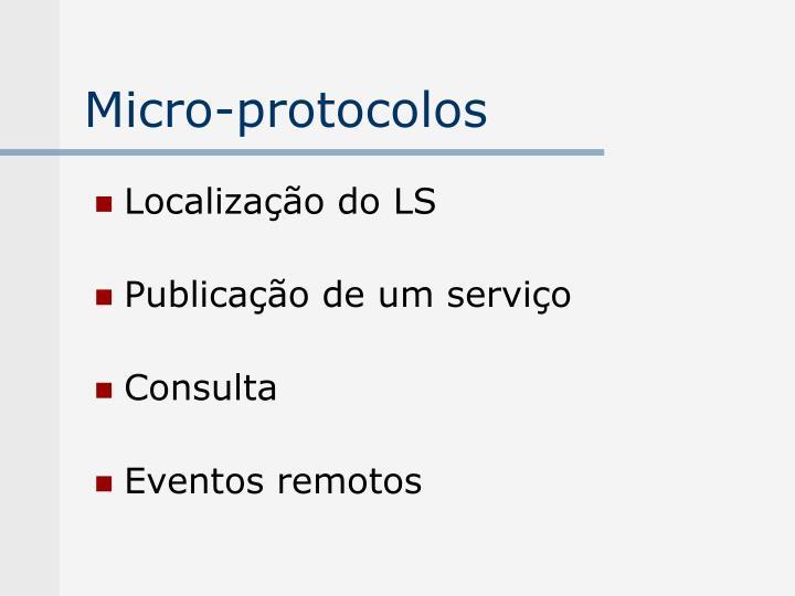 Micro-protocolos