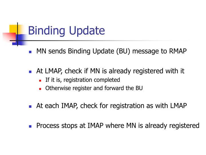 Binding Update