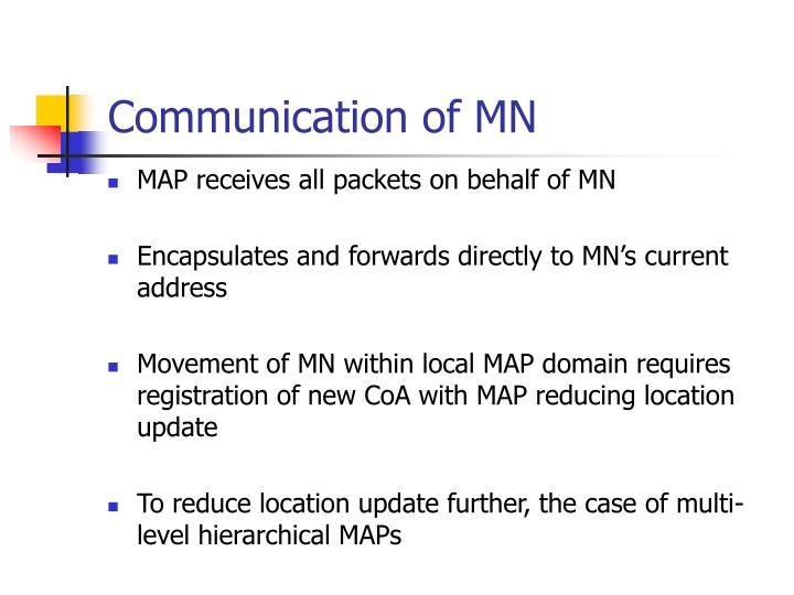 Communication of MN