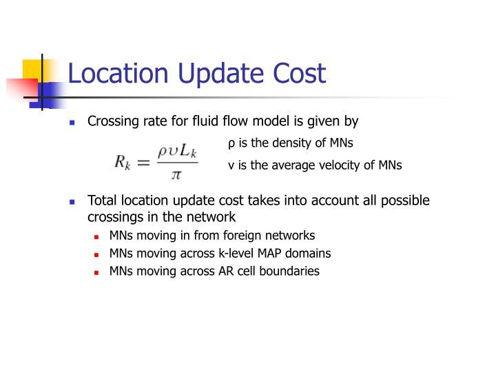 Location Update Cost