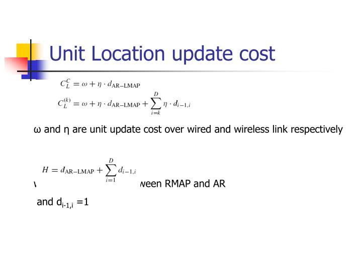 Unit Location update cost