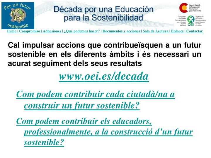 Inicio | Compromiso | Adhesiones | ¿Qué podemos hacer? | Documentos y acciones | Sala de Lectura | Enlaces | Contactar