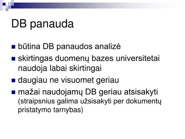 DB panauda