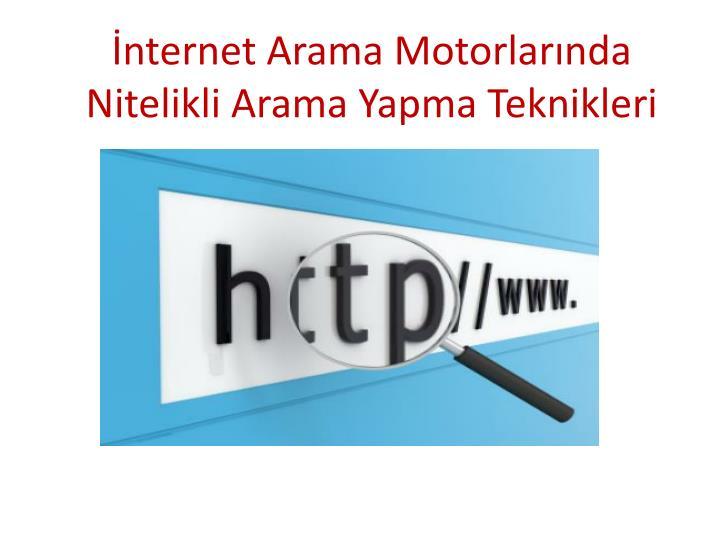 İnternet Arama Motorlarında