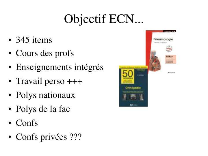 Objectif ECN...