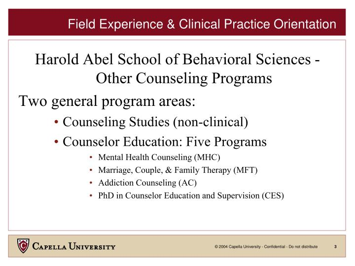 Field experience clinical practice orientation1