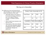 field experience clinical practice orientation19