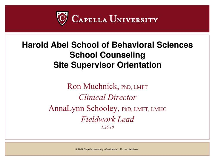 Harold Abel School of Behavioral Sciences