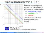 time dependent cpv in b s2