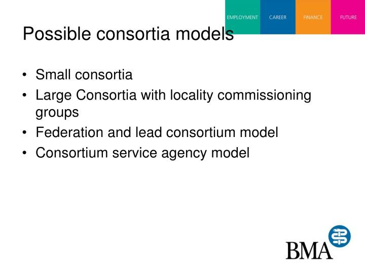 Possible consortia models