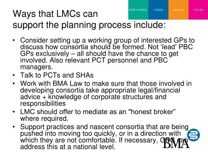 Ways that LMCs can