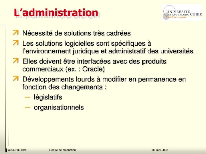 L'administration