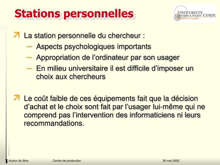 Stations personnelles