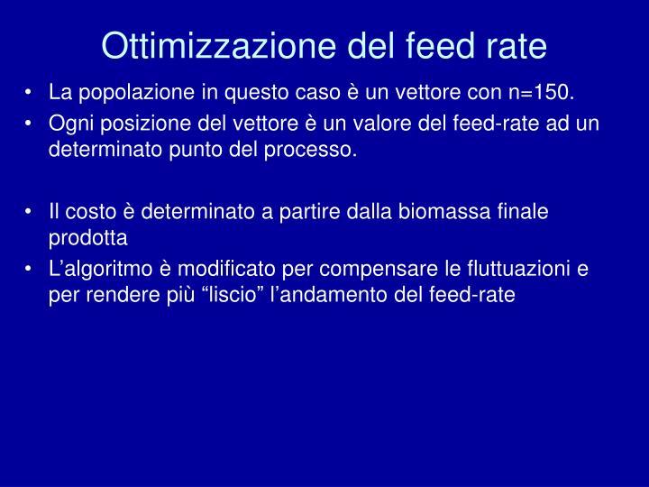 Ottimizzazione del feed rate