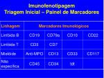 imunofenotipagem triagem inicial painel de marcadores