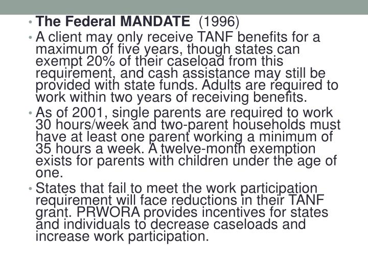 The Federal MANDATE
