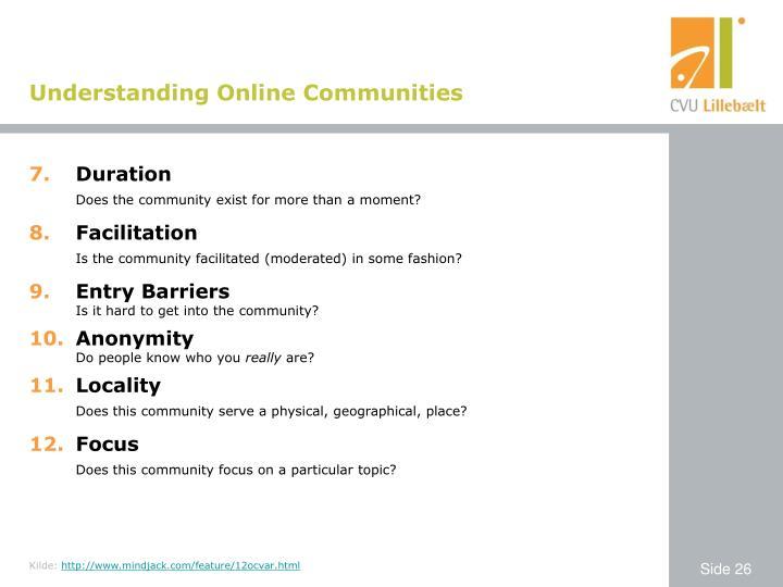 Understanding Online Communities