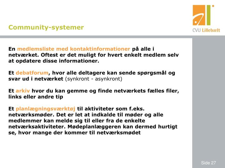 Community-systemer