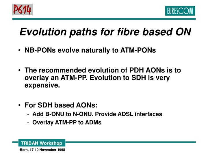 Evolution paths for fibre based ON