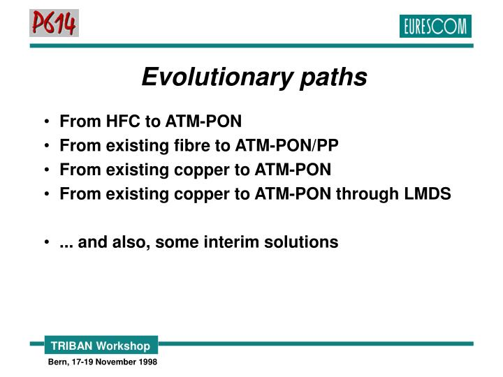 Evolutionary paths