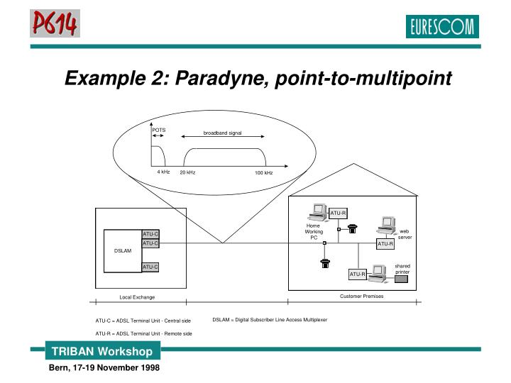 Example 2: Paradyne, point-to-multipoint
