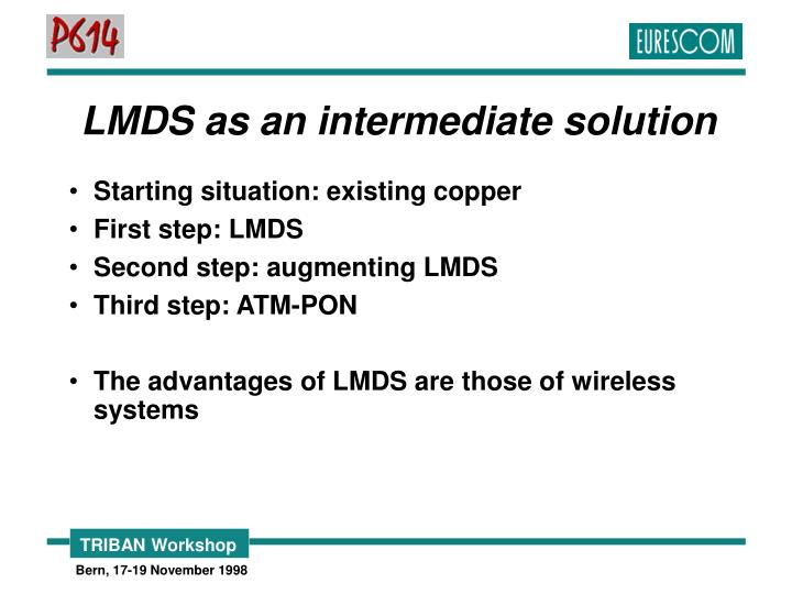 LMDS as an intermediate solution