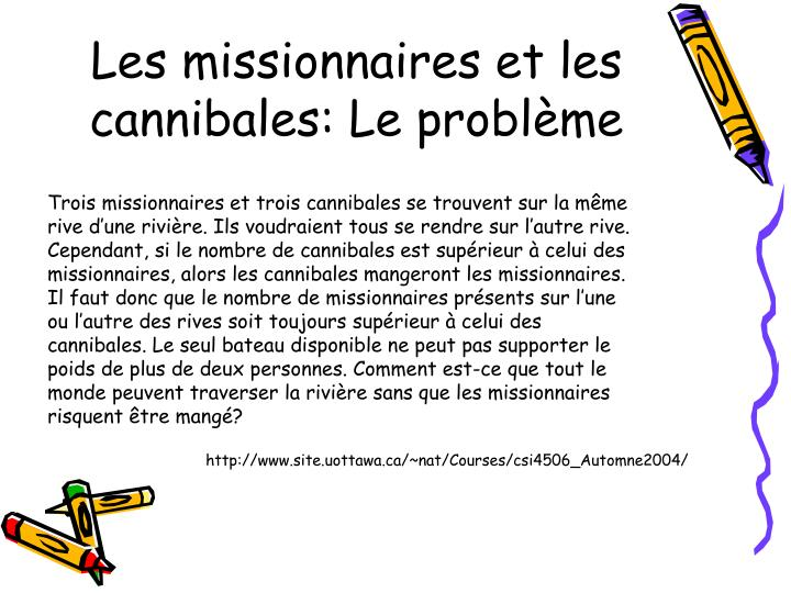 Les missionnaires et les cannibales: Le probl