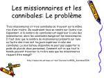 les missionnaires et les cannibales le probl me