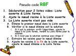pseudo code rbf