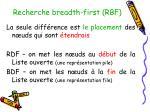 recherche breadth first rbf