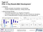 task 3 3 ifxa key results m c development