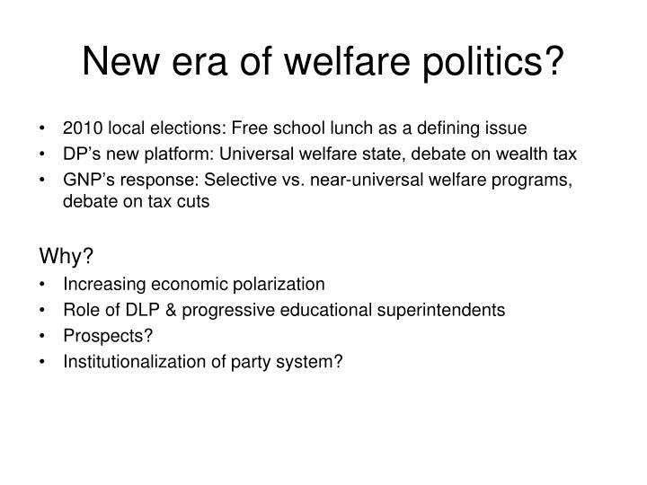 New era of welfare politics?