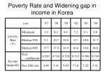 poverty rate and widening gap in income in korea