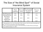 the size of the blind spot of social insurance system